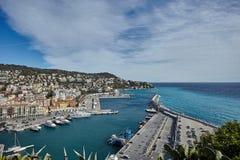 Agradável, porto Limpia, França imagens de stock