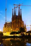 Agrada Familia w zmierzchu Barcelona Zdjęcie Royalty Free