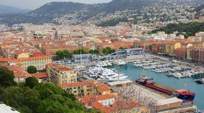Agradable, Francia - puerto Fotografía de archivo