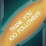 Agradeça ao amarelo dos seguidores 100 ilustração stock