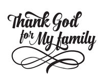 Agradeça ao deus para minha família Foto de Stock Royalty Free