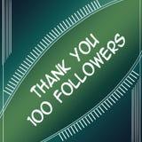 Agradeça ao verde dos seguidores 100 ilustração do vetor