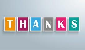 Agradecimentos dos quadrados Imagens de Stock