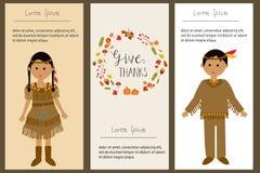 Agradecimentos felizes que dão com vetor indiano vermelho das crianças do traje doente ilustração do vetor