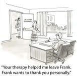 Agradezca al terapeuta libre illustration