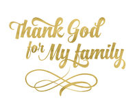 Agradezca a dios por mi familia ilustración del vector