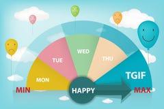 ¡Agradezca a dios que es viernes! (tgif) ilustración del vector