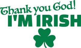 Agradezca el irlandés del ` m de dios I - día del ` s de St Patrick ilustración del vector