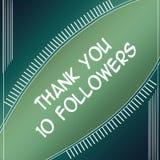 Agradezca el verde de los seguidores 10 ilustración del vector