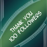 Agradezca el verde de los seguidores 100 ilustración del vector