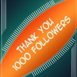 Agradezca la naranja de los seguidores 1000 libre illustration