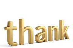 Agradezca la palabra sobre blanco ilustración 3D ilustración del vector