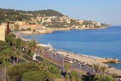 Agradável, costa de mar, França Imagem de Stock