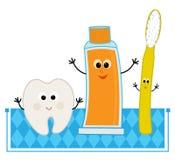 Agrafe-art d'hygiène buccale Photographie stock libre de droits