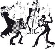 Agrafe-art de jazz-band Image stock