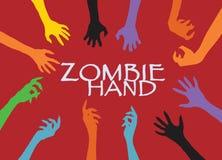 Agrafe Art Design Vector de silhouette de main de zombi Images libres de droits