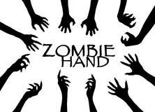 Agrafe Art Design Vector de silhouette de main de zombi Photos stock