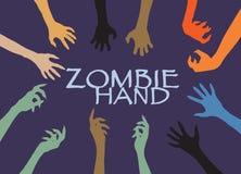 Agrafe Art Design Vector de silhouette de main de zombi Photo stock