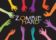 Agrafe Art Design Vector de silhouette de main de zombi Photo libre de droits