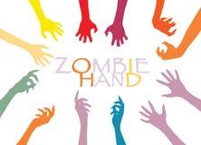 Agrafe Art Design Vector de silhouette de main de zombi Photographie stock