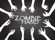 Agrafe Art Design Vector de silhouette de main de zombi Photos libres de droits