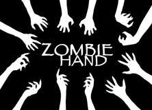 Agrafe Art Design Vector de silhouette de main de zombi Image libre de droits