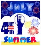 Agrafe Art Set d'événements de juillet illustration de vecteur