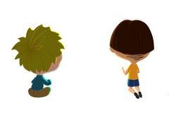 Agrafe Art Set : Deux garçons illustration de vecteur