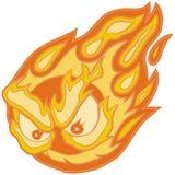 Agrafe fâchée Art Cartoon de vecteur d'aérolithe de yeux illustration de vecteur