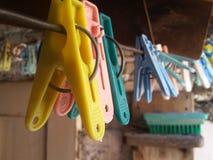 Agrafe sèche de vêtements Images stock