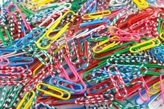 Agrafes de couleur Images stock