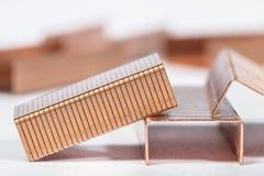 Agrafes de papier faites de cuivre Image libre de droits