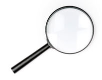 agrandissement en verre Images stock