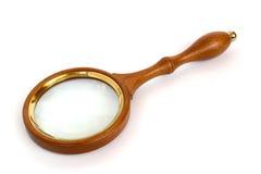 agrandissement en verre de traitement en bois image stock