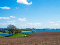Agrarian landscape in northern Germany Royalty Free Stock Photo