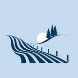 Agrarian landscape royalty free illustration