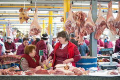 Agrarmarkt Dorogomilovsky Lizenzfreie Stockfotografie