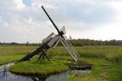 agrarny holenderski typowy wiatraczek Obraz Stock