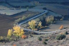 Agrarny środowisko zaorany pole Obraz Stock