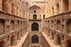 Agrasen ki Baoli krok Dobrze, Antyczna budowa, New Delhi Zdjęcie Royalty Free