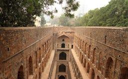 Agrasen ki Baoli krok Dobrze, Antyczna budowa, New Delhi, I Zdjęcia Royalty Free