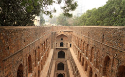 Agrasen ki Baoli Step Well, Ancient Construction, New Delhi, I Royalty Free Stock Photos