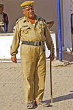 Agrd Indian policeman Stock Photography