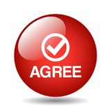 Agree / accept button. Agree web button web button - computer generated illustration on isolated white background stock illustration