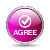 Agree / accept button. Agree web button web button - computer generated illustration on isolated white background vector illustration