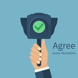 Agree concept vector Stock Image