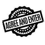 Agree And Enter rubber stamp Royalty Free Stock Images
