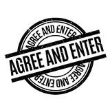 Agree And Enter rubber stamp Royalty Free Stock Photos