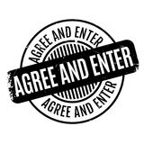 Agree And Enter rubber stamp Royalty Free Stock Photography