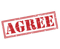 Agree red stamp Stock Image